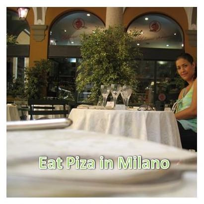 Eat pizza in Milano~